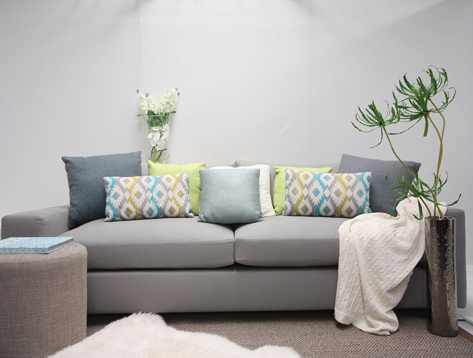 """Custom Furniture Design """"The Sorrento"""" lounge setting with casual relaxed styling"""